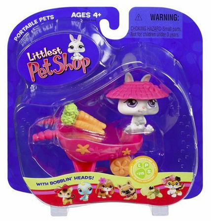 Littlest Pet Shop Portable Pets Bunny Figure [With Wheelbarrow]