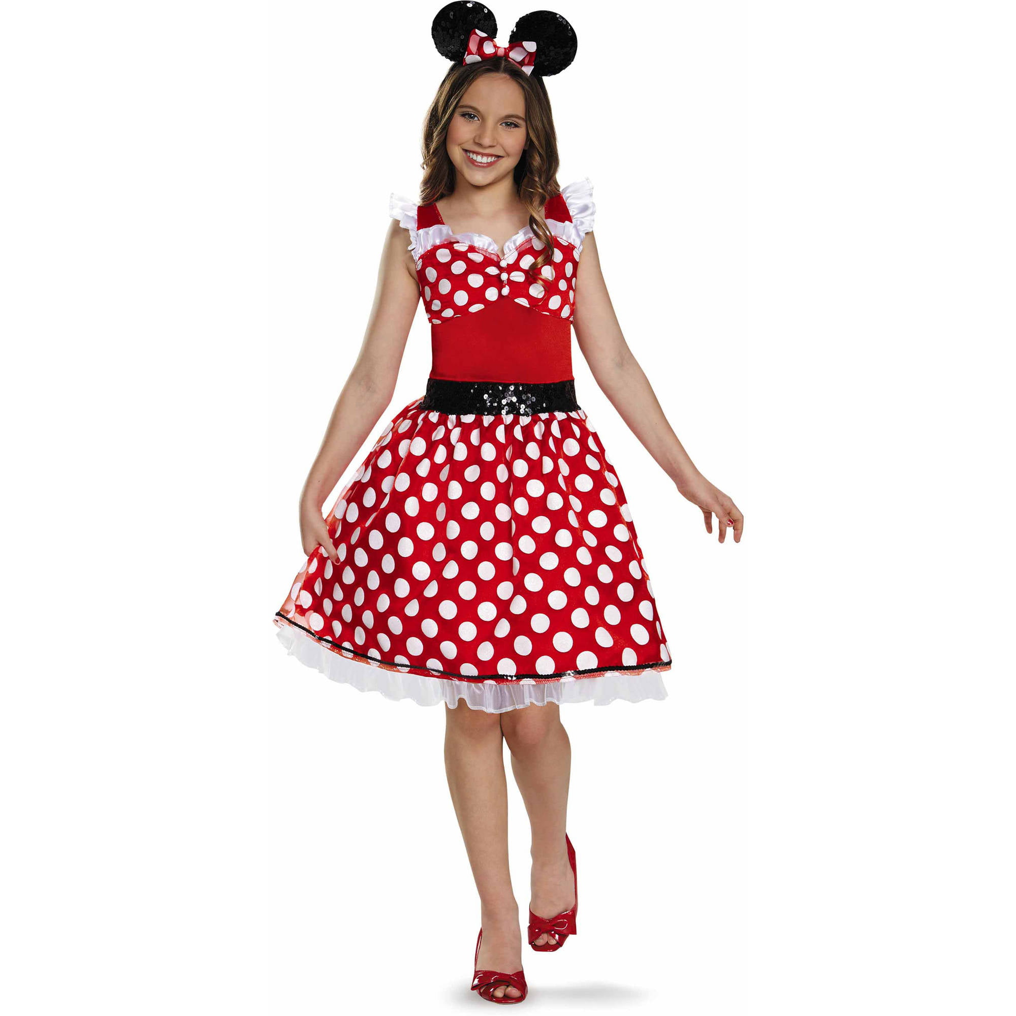 sc 1 st  Walmart & Red Minnie Mouse Tween Halloween Costume - Walmart.com
