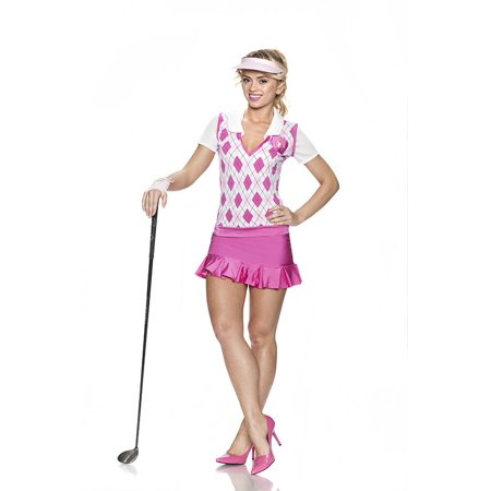 Rubies Bye Bye Birdie Sexy Golf 4pc Women Costume, Pink White, S