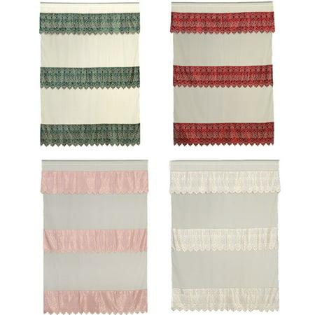 Green Burgundy Pink Beige Room Decor Satin Sheer Window Curtain Drapes 60x90