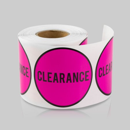 Round Clearance Stickers (2 inch, 300 Stickers per Roll, Pink, 5 Rolls) for Retail & - Costumes On Sale Clearance
