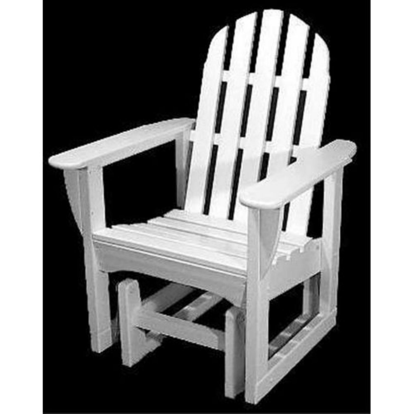 POLYWOOD® Classic Recycled Plastic 2 ft. Adirondack Outdoor Glider Chair