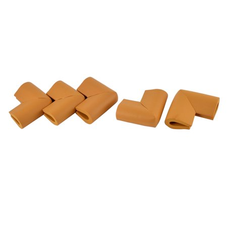 U Shape Corner Guard Home Furniture Edge Protector Cushion Wood Color 5 Pcs
