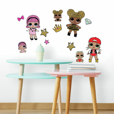 lol surprise! peel and stick wall decals - walmart