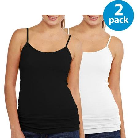 131a36d405 No Boundaries - Juniors  Shelf Bra Cami 2 Pack with Adjustable Straps -  Walmart.com