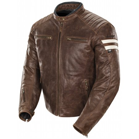 Joe Rocket Racing Leathers (Joe Rocket Classic 92 Mens Brown/Cream Leather Jacket )