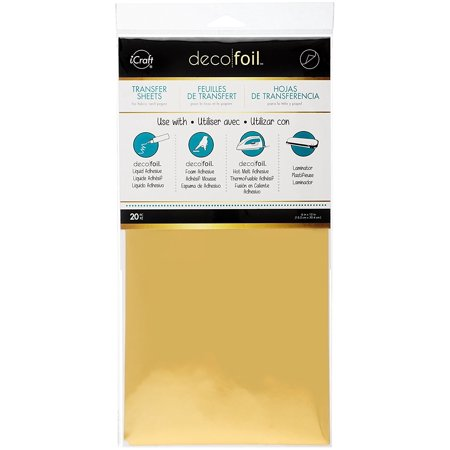 Therm O Web Deco Foil  Pack Of 20   Gold