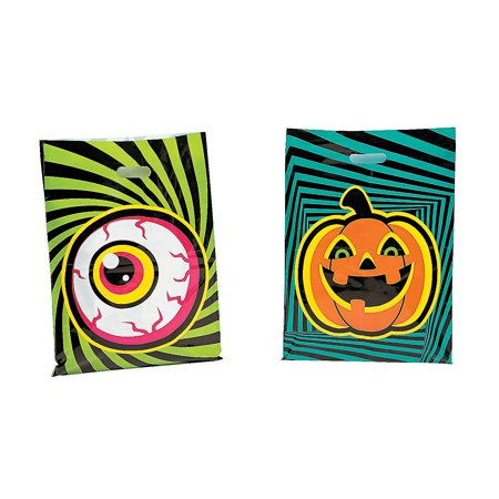 Fun Express - Spookadelic Halloween Plastic Bags for Halloween - Party Supplies - Bags - Plastic Bags - Halloween - 50 - Halloween Express Printable Coupon
