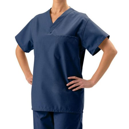 Medline  Unisex Navy Blue Reversible Scrub -