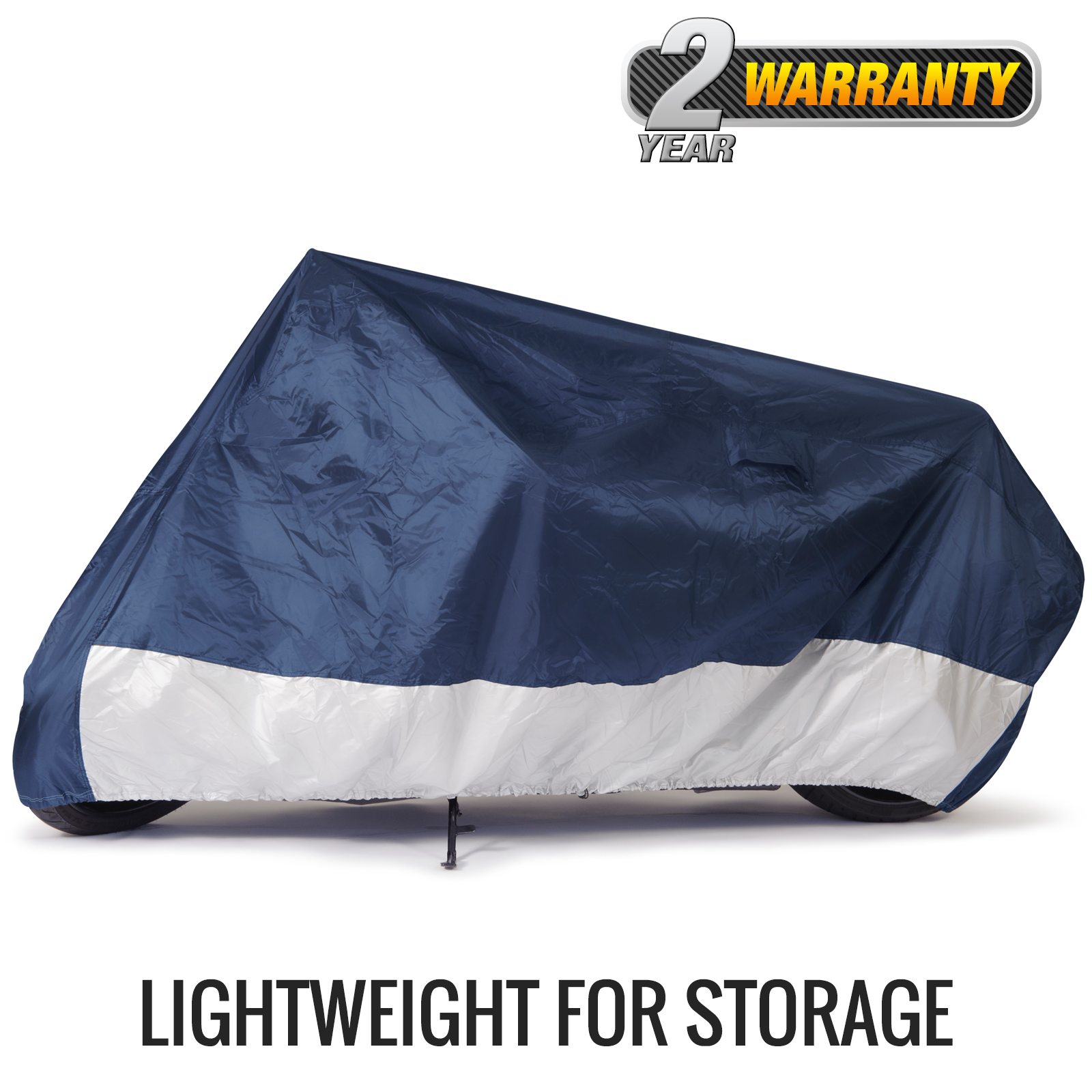 "Budge Standard Motorcycle Cover, Water-Resistant, Size MC-0: 86"" L x 44"" W x 44"" H"