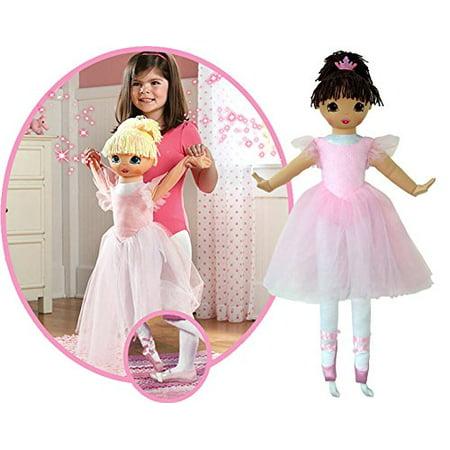"Anico Well Made Play Doll For Children La Bella Ballerina, Hispanic, 36"" Tall, Pink - image 2 of 2"