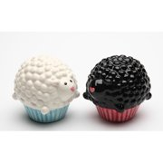 Cosmos Gifts Cupcake Sheep Salt and Pepper Set
