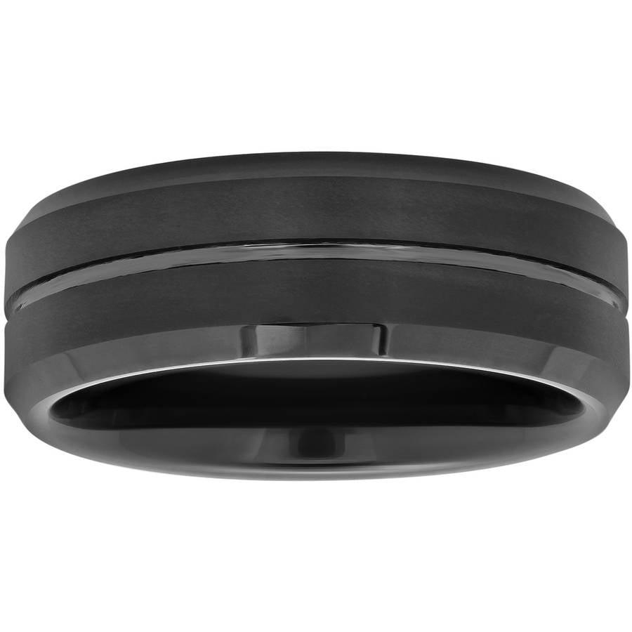 Men's 8mm Ring in Black Tungsten