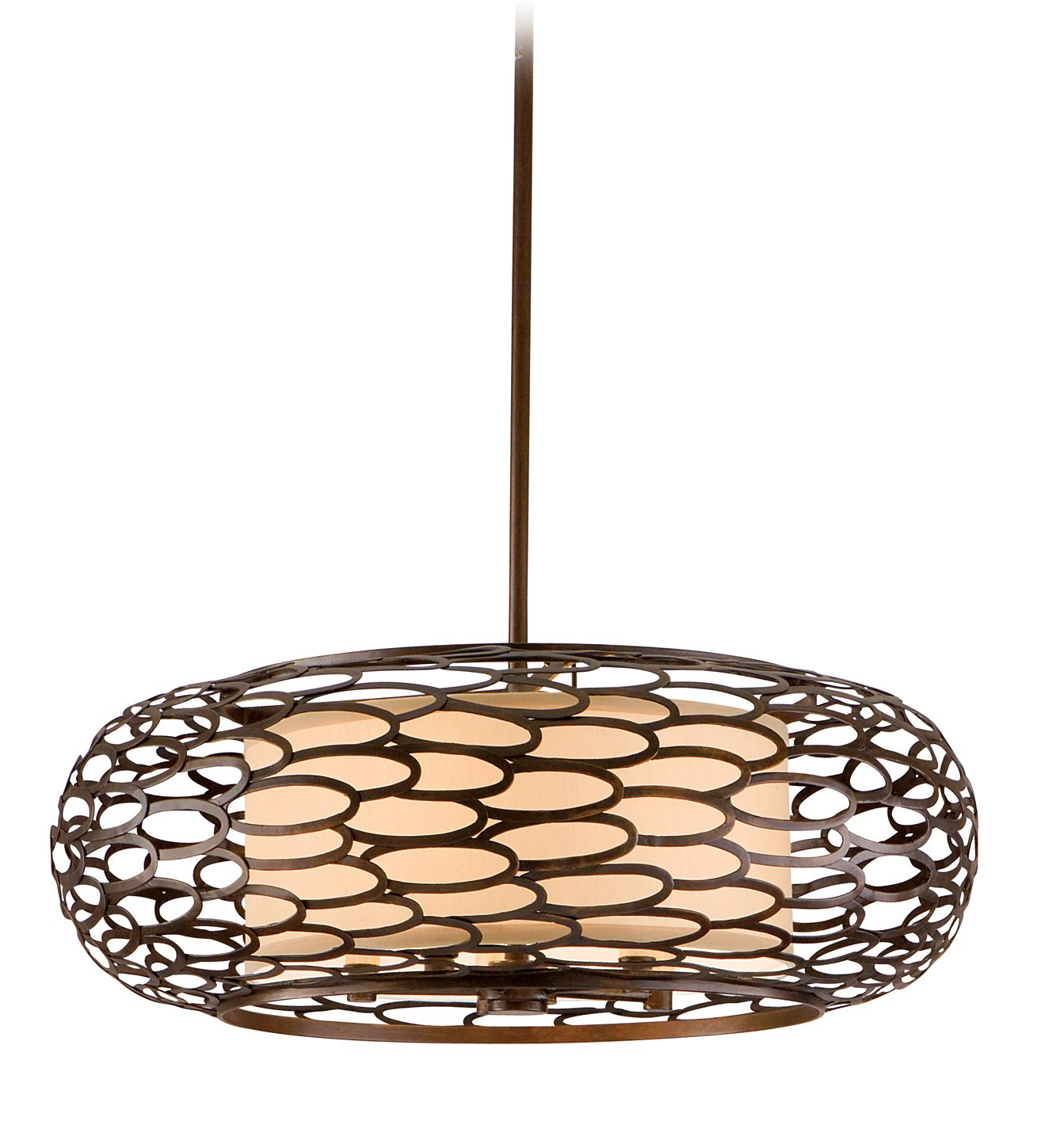 Corbett Lighting 79-45 Five Light Hanging Pendant From The Cesto Collection, Napoli Bronze