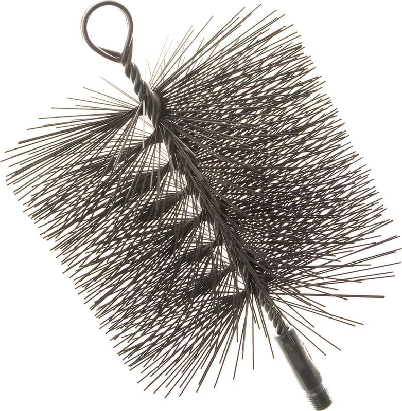 Imperial BR0210 Premium Square Chimney Cleaning Brush, 7 x 7 in, Wire Bristle Trim by IMPERIAL MANUFACTURING