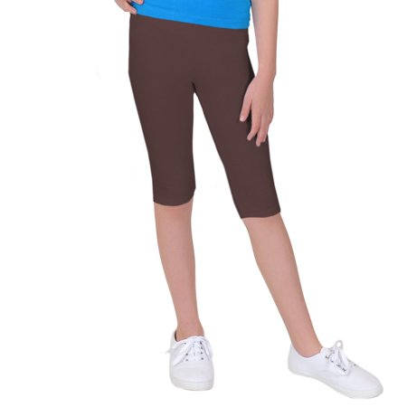 a54997be2b3 Stretch is Comfort - GP Girl s Plus Size Cotton CAPRI Leggings - Small Plus  (6)   Brown - Walmart.com