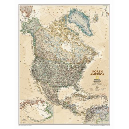 National Geographic Maps North America Executive Wall Map - Walmart.com