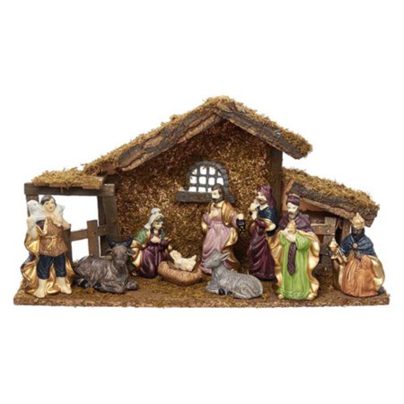 Kurt S. Adler 1.57 - 4.3 in. Nativity Set with Figures and Stable for $<!---->