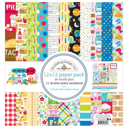 6070 Paper Crafts, Multi, The perfect start to your next scrapbooking project! This package contains eleven 12x12 inch double-sided sheets with a different.., By DOODLEBUG](Scrapbook Paper Crafts)