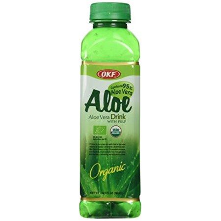 trader joe's aloe vera drink with pulp, 4 bottles, each 16.9 oz bottles, organic ()