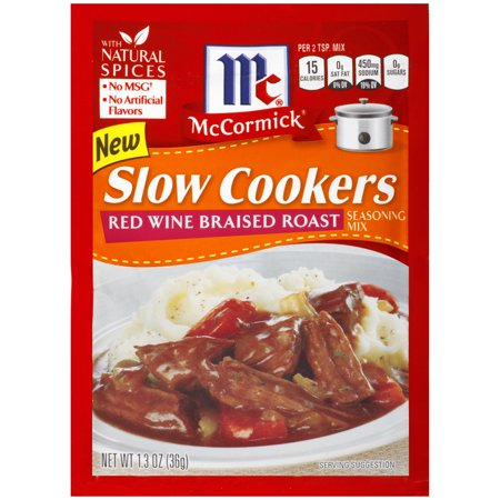 (4 Pack) McCormick Slow Cookers Red Wine Braised Roast Seas, 1.3 Oz (Case of -