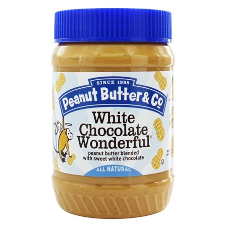 (2 Pack) Peanut Butter & Co White Chocolate Wonderful Peanut Butter, 16 oz (Chocolate Salted Butter)