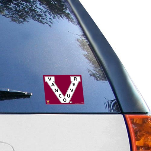 """Vancouver Canucks WinCraft 5"""" x 6"""" Multi Use Vintage Decal - No Size"""