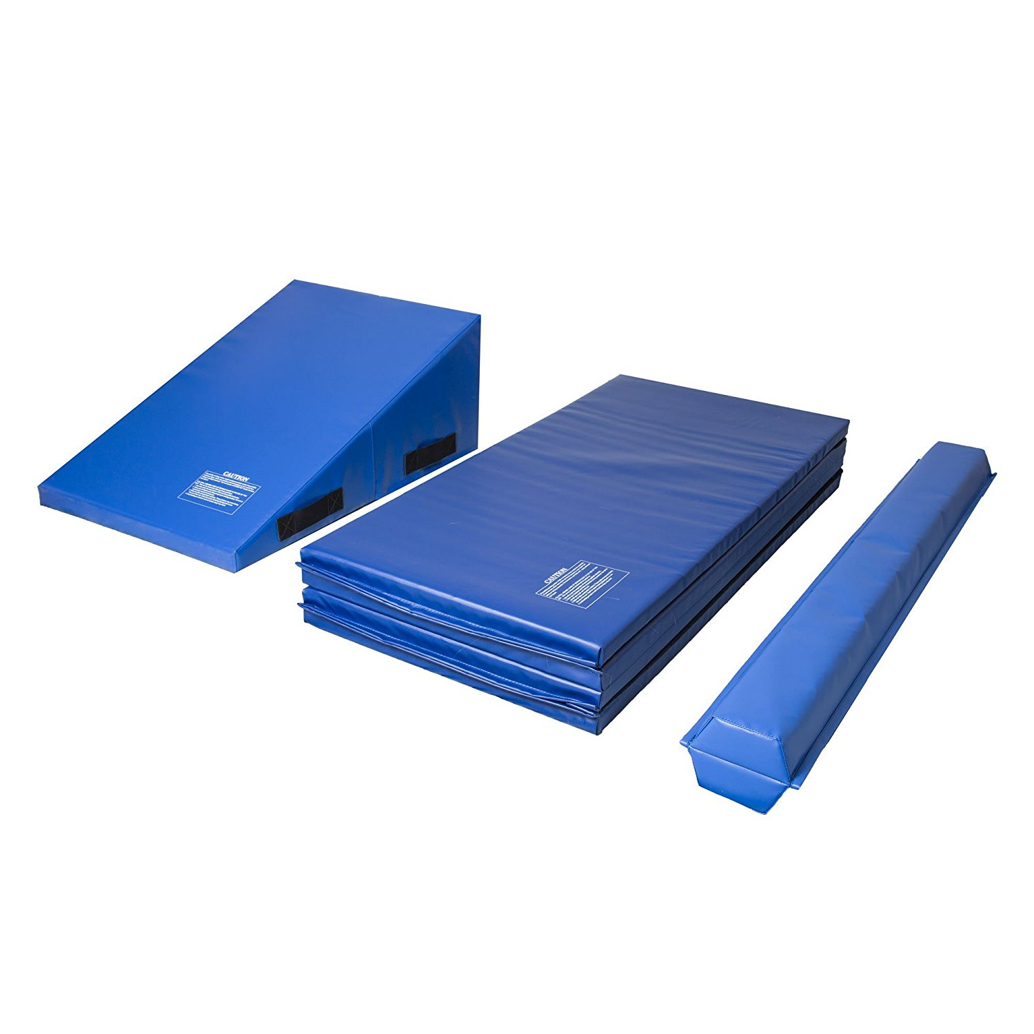 "IncStores Gymnastics Kit Includes Incline Mat (14""x24""x33""), Folding Mat (4'x8'x2"") and... by"