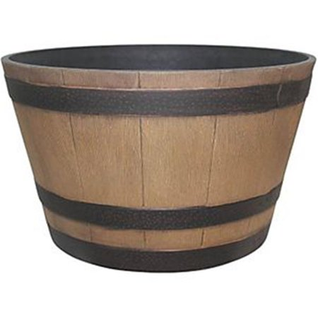 HDR-012207 Hampton Whiskey Barrel, Natural Oak - 15.5 In