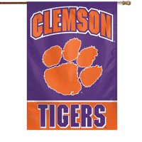 "Clemson Tigers WinCraft 28"" x 40"" Full Name House Flag"
