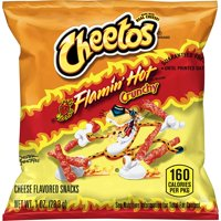 Cheetos Crunchy Flamin' Hot Cheese Flavored Snacks, 1 oz Bags, 40 Count
