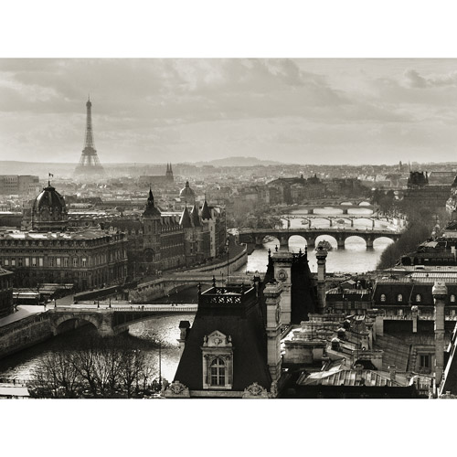 """River Seine and City of Paris"" 18x24 Canvas Art"
