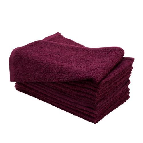 """Altima Plus 16"""" x 27"""" 12 Pack Bleach Chemical Resistant Cotton Salon Towels, BURGUNDY, 78614"""