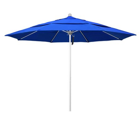 California Umbrella Venture 11 Silver Market Umbrella In Blue