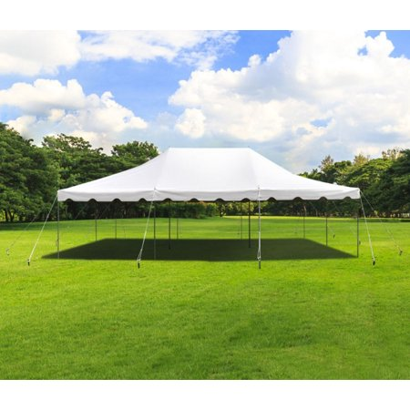 Party Tents Direct 20x30 White Outdoor Wedding Canopy Pole Tent