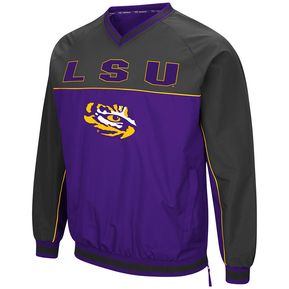 Mens LSU Louisiana State Tigers Windbreaker Jacket M by Colosseum