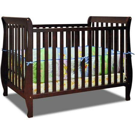 AFG Baby Naomi 4-in-1 Convertible Crib with Toddler Rail Cherry