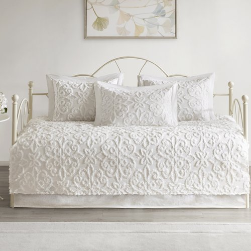 Ophelia & Co. Keeney Chenille 100pct Cotton 5 Piece Daybed Set