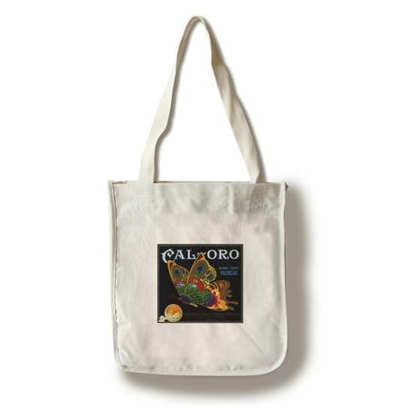 Cal Oro Brand - Tustin, California - Citrus Crate Label (100% Cotton Tote Bag - Reusable) ()