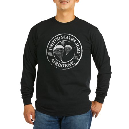 CafePress - Army Airborne Long Sleeve T-Shirt - Long Sleeve Dark T-Shirt