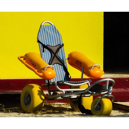 Life Guard Float (Canvas Print Lifeguard Equipment Floating Wheelchair Stretched Canvas 10 x)
