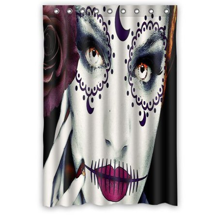 Halloween Window Paintings (Ganma Halloween Face Pink Painting Shower Curtain Polyester Fabric Bathroom Shower Curtain 48x72)