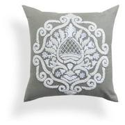 A1 Home Collections Brigid Grey Baroque Pillow