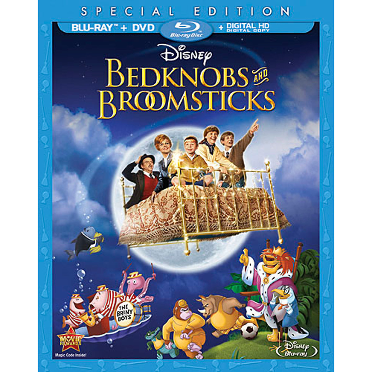 Bedknobs and Broomsticks (Special Edition) (Blu-ray + DVD + Digital HD) by Buena Vista