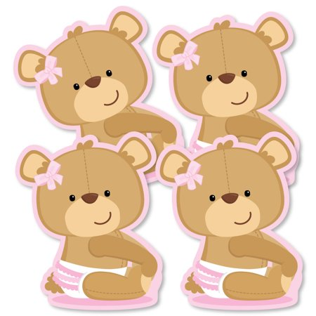 Baby Girl Teddy Bear - Decorations DIY Baby Shower Party Essentials - Set of 20 (Baby Girl Party)