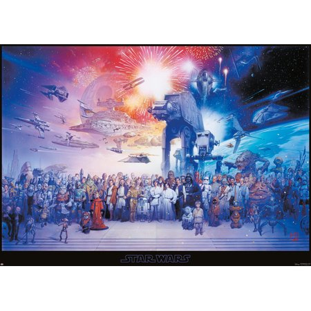 Star Wars: Episode I, II, III, IV, V & VI - Giant XXL Movie Poster / Print (The Star Wars Galaxy - All Characters, Ships & Vehicles) (Size: 36