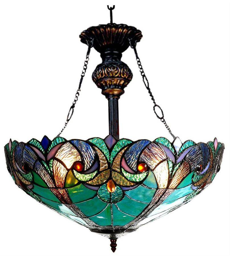 Liaison Victorian 2 Light Inverted Ceiling Pendant