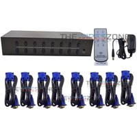 8 Port VGA Audio Video Switch Switcher Box Selector 8 in 1 Out PC Monitor Share