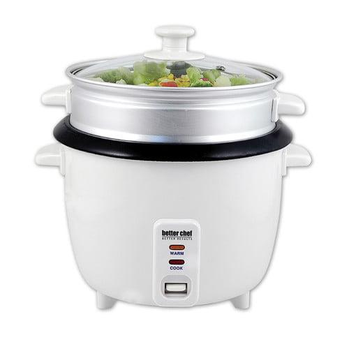 Better Chef 5 Cup Rice Cooker W Food Steamer Walmartcom