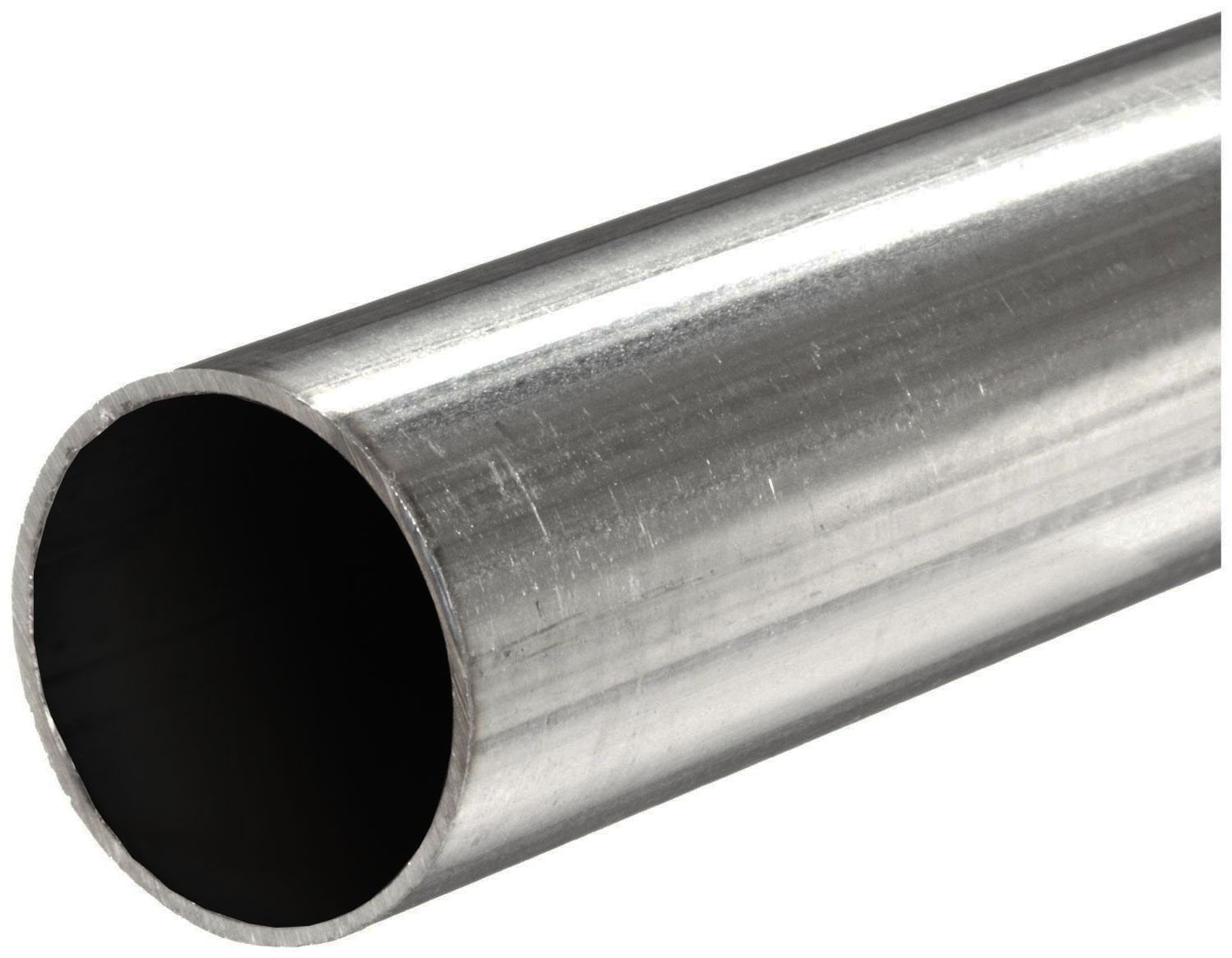 316 Stainless Steel, Round Tube, OD: 2 750 (2 -3/4 inch), Wall: 0 049 inch,  Length: 12 inches, Welded